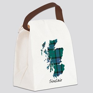 Map-Sinclair hunting Canvas Lunch Bag