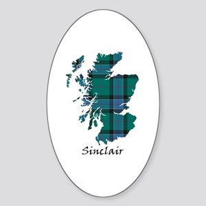 Map-Sinclair hunting Sticker (Oval)