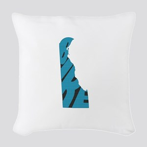 Bike Delaware Woven Throw Pillow