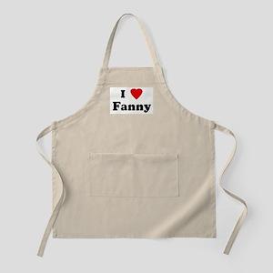 I Love Fanny BBQ Apron