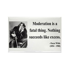 Oscar Wilde 19 Rectangle Magnet (100 pack)