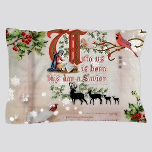 Vintage Nativity Pillow Case