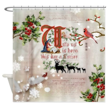 Vintage Nativity Shower Curtain By Admin CP59133934