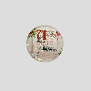 Vintage Nativity Mini Button
