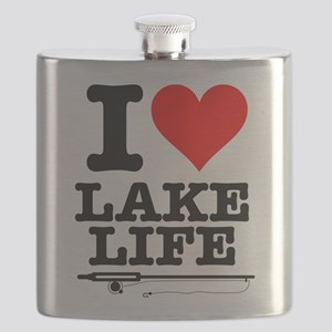 I Heart Lake Life Flask