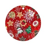 Christmas Cookies Round Ornament