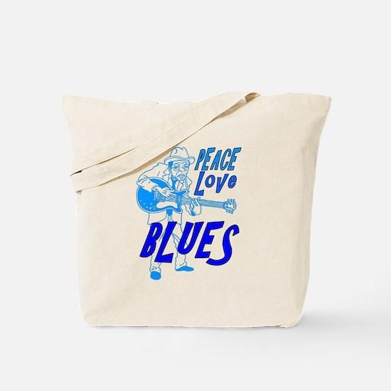 Peace Love Blues Tote Bag