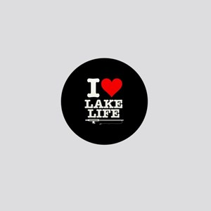 I Heart Lake Life Mini Button
