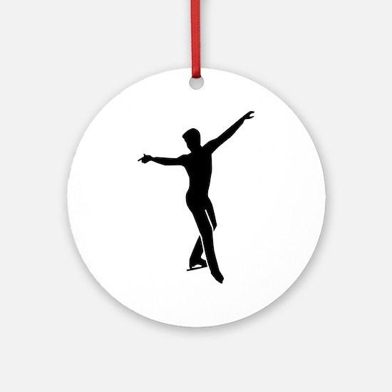 Figure skating man Round Ornament