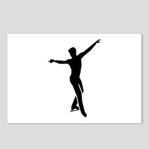 Figure skating man Postcards (Package of 8)