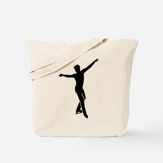 Figure skating man Tote Bag
