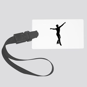 Figure skating man Large Luggage Tag