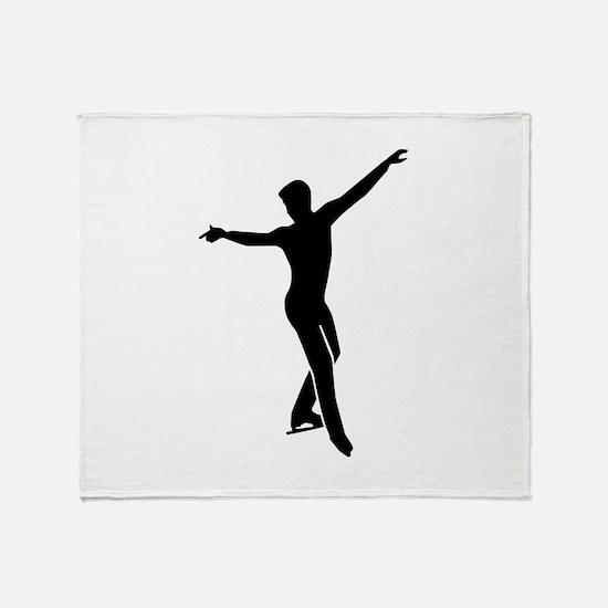 Figure skating man Throw Blanket