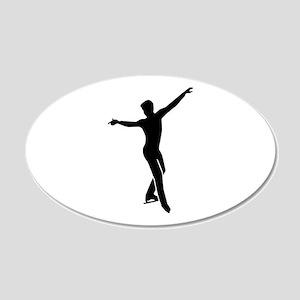 Figure skating man 20x12 Oval Wall Decal