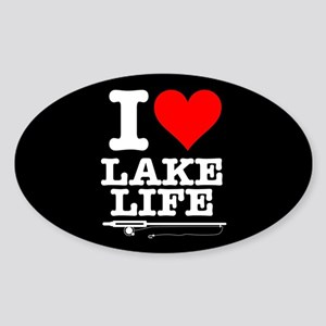 I Heart Lake Life Sticker (Oval)