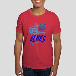 Peace Love Blues Dark T-Shirt