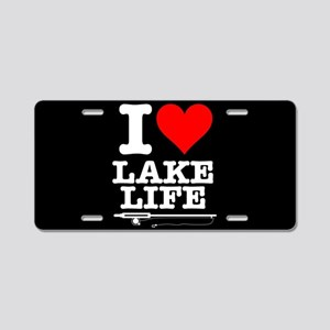 I Heart Lake Life Aluminum License Plate