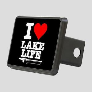 I Heart Lake Life Rectangular Hitch Cover