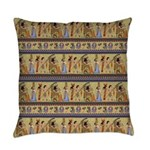 Painted Egyptian Hieroglyphics Everyday Pillow
