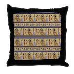 Painted Egyptian Hieroglyphics Throw Pillow