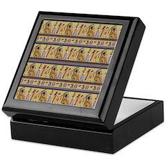 Painted Egyptian Hieroglyphics Keepsake Box