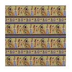 Painted Egyptian Hieroglyphics Tile Coaster