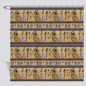 Painted Egyptian Hieroglyphics Shower Curtain