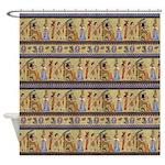 Painted Egyptian Hieroglyphics Shower Curtain