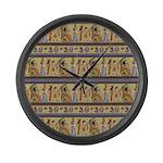 Painted Egyptian Hieroglyphics Large Wall Clock