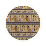 Painted Egyptian Hieroglyphics Button