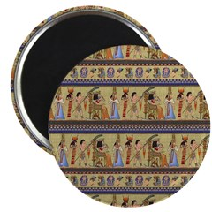 Painted Egyptian Hieroglyphics Magnets