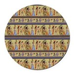 Painted Egyptian Hieroglyphics Round Car Magnet