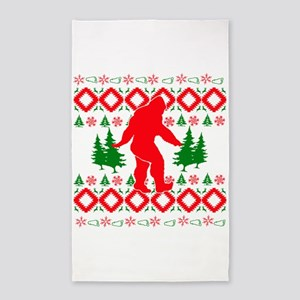 Christmas Ugly Bigfoot Area Rug