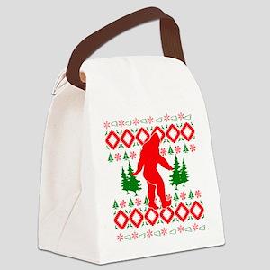 Christmas Ugly Bigfoot Canvas Lunch Bag