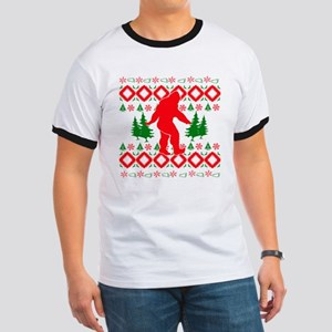 Christmas Ugly Bigfoot Ringer T