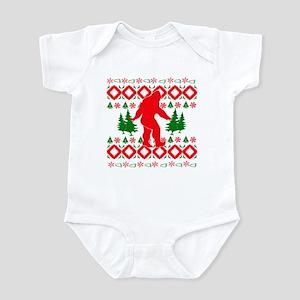 Christmas Ugly Bigfoot Infant Bodysuit