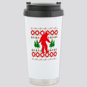 Christmas Ugly Bigfoot Stainless Steel Travel Mug