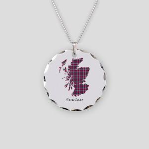 Map - Sinclair Necklace Circle Charm