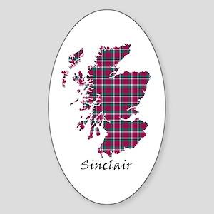Map - Sinclair Sticker (Oval)