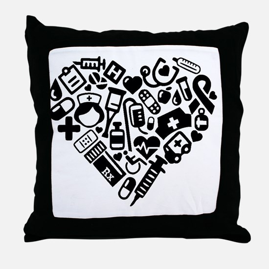 Cute Cardiac nurse Throw Pillow