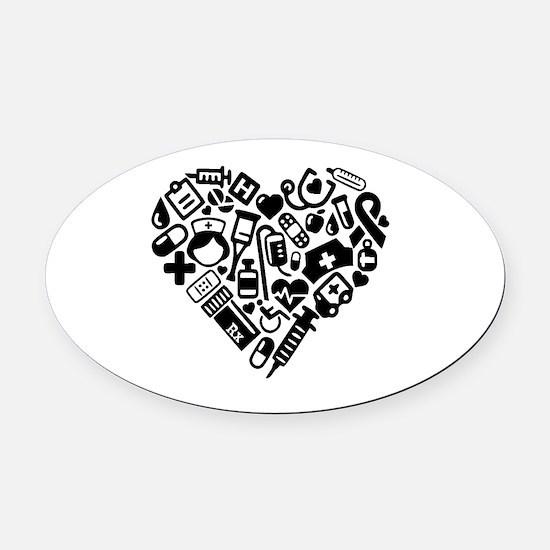 Cute Nursing Oval Car Magnet