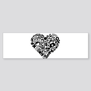 Nurse Heart Bumper Sticker
