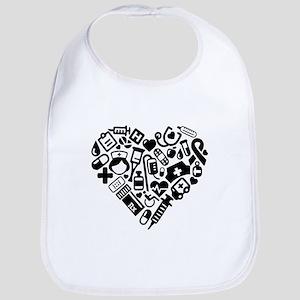 Nurse Heart Baby Bib