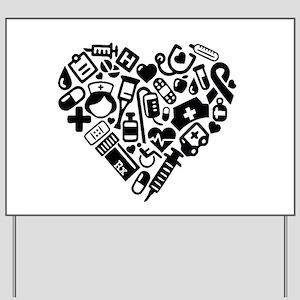 Nurse Heart Yard Sign