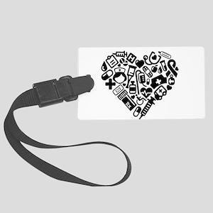 Nurse Heart Large Luggage Tag