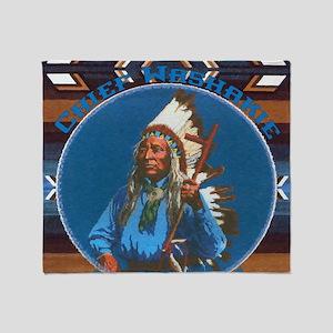 Chief Washakie Shoshone Throw Blanket