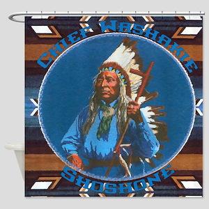 Chief Washakie Shoshone Shower Curtain