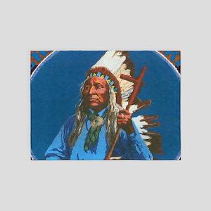 Chief Washakie Shoshone 5'x7'Area Rug