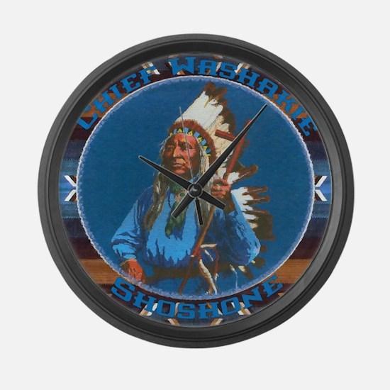 Chief Washakie Shoshone Large Wall Clock