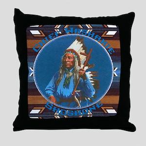 Chief Washakie Shoshone Throw Pillow